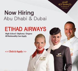 Latest Jobs at Etihad Airways – UAE