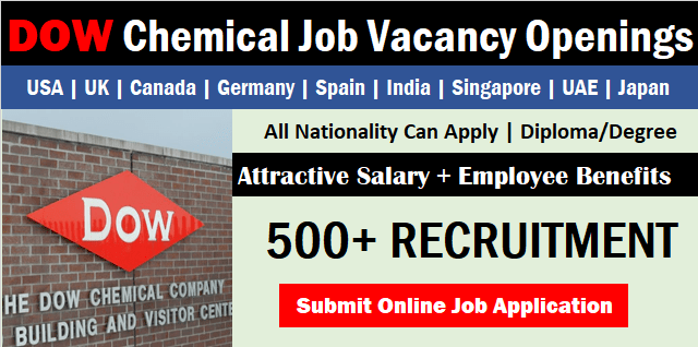 Exciting Dow Chemical Job Opportunities in Canada 2021
